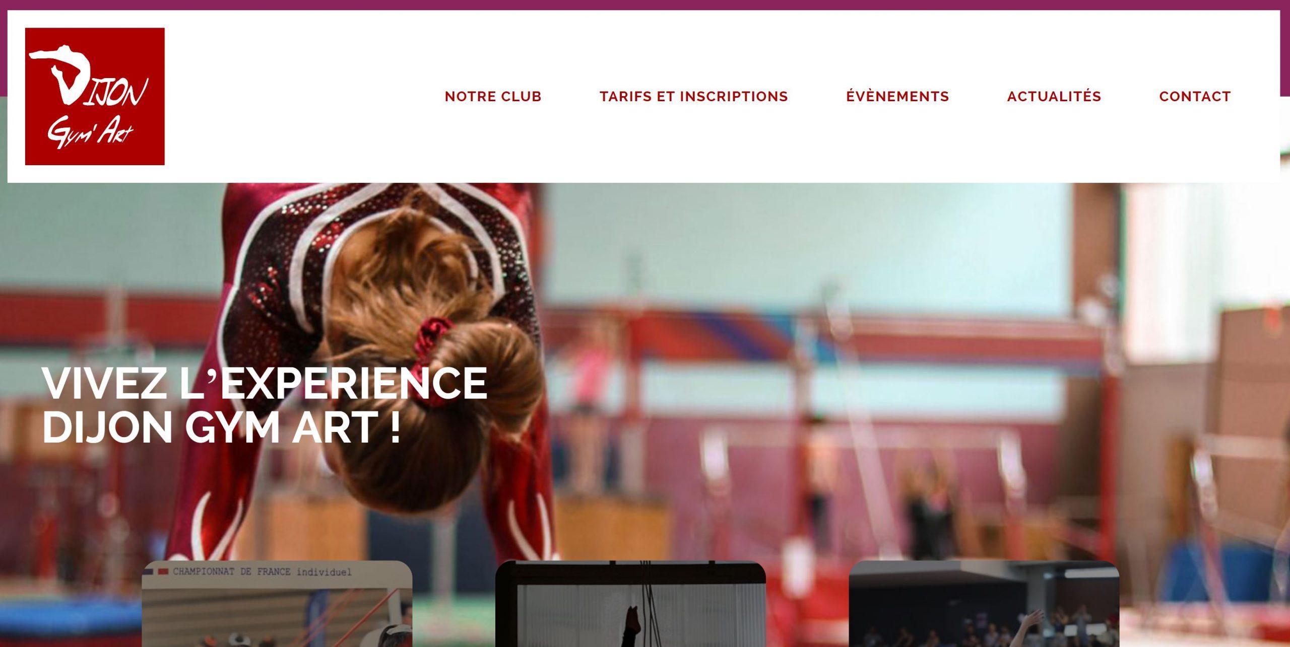 Nouveau site web de Dijon Gym Art